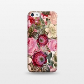 iPhone 5C  Pink Vintage Flower Pattern by Utart