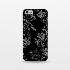 iPhone 5/5E/5s  DarkRoses by Dunia Nalu (dark, black,white,B&W,floral,botanical,nature,flowers,flower,minimalist)