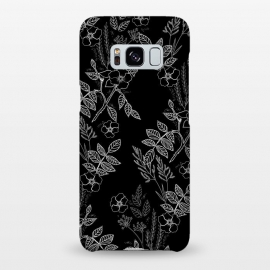 Galaxy S8+  DarkRoses by Dunia Nalu (dark, black,white,B&W,floral,botanical,nature,flowers,flower,minimalist)