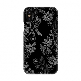 iPhone X  DarkRoses by Dunia Nalu (dark, black,white,B&W,floral,botanical,nature,flowers,flower,minimalist)
