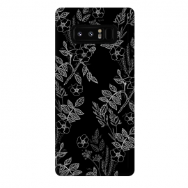 Galaxy Note 8  DarkRoses by Dunia Nalu (dark, black,white,B&W,floral,botanical,nature,flowers,flower,minimalist)