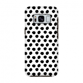 Hand drawn black polka dots on white by DaDo ART