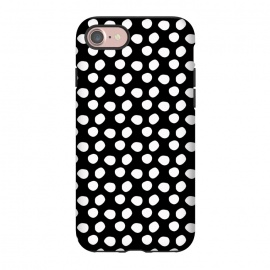 iPhone 8/7  Hand drawn white polka dots on black by DaDo ART