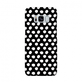Hand drawn white polka dots on black by DaDo ART