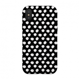 Hand drawn white polka dots on black by DaDo ART (abstract, art, artwork, background, black, bubbles, chaotic, circle, classic, creative, decoration, decorative, delicate, design, dot, dotted, elegance, elegant, fashion, geometric, geometrical, geometry, graphic, illustration, modern, pattern, point, polka, retro, seamless, shape, simple, style, st)