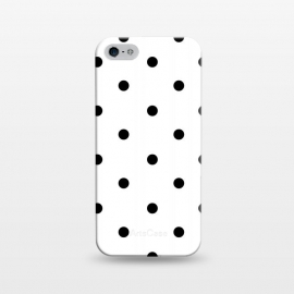 iPhone 5/5E/5s  Simply black polka dots on white  by DaDo ART