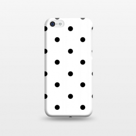 iPhone 5C  Simply black polka dots on white  by DaDo ART