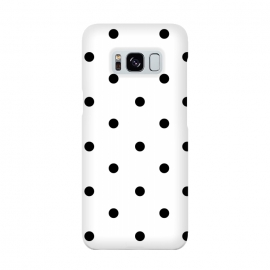 Simply black polka dots on white  by DaDo ART