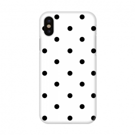 iPhone X  Simply black polka dots on white  by DaDo ART