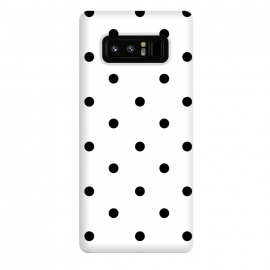 Galaxy Note 8  Simply black polka dots on white  by DaDo ART