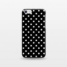 iPhone 5C  Cute little white polka dots on black by DaDo ART