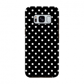 Cute little white polka dots on black by DaDo ART