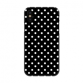iPhone X  Cute little white polka dots on black by DaDo ART