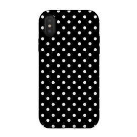 Cute little white polka dots on black by DaDo ART (abstract, art, artwork, background, black, bubbles, chaotic, circle, classic, creative, decoration, decorative, delicate, design, dot, dotted, elegance, elegant, fashion, geometric, geometrical, geometry, graphic, illustration, modern, pattern, point, polka, retro, seamless, shape, simple, style, st)