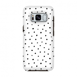 Hand drawn little black polka dots on white by DaDo ART