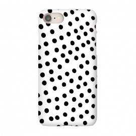 iPhone 8/7  Drunk black polka dots on white by DaDo ART