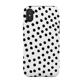 iPhone Xs / X  Drunk black polka dots on white by