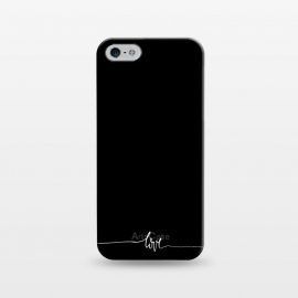 iPhone 5/5E/5s  Simply love - on black by DaDo ART