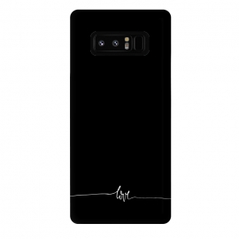 Galaxy Note 8  Simply love - on black by DaDo ART