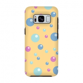 Galaxy S8  blue pink circle pattern by MALLIKA