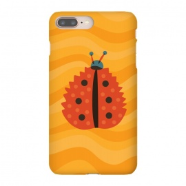 Orange Ladybug With Autumn Leaf Disguise by Boriana Giormova (mimicry, funny, illustration, animal, nature, insect, color, cute ladybug, ladybird, bug, vector, cartoon, leaf, fun, bright, dot, beautiful, autumn colors, orange, orange leaf, autumn leaf, autumn, fall, fall season, season, seasonal, autumnal, leaves, vibrant color, yellow, whimsical, abstract, ab)