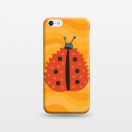 iPhone 5C  Orange Ladybug With Autumn Leaf Disguise by Boriana Giormova