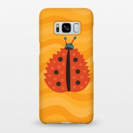 Galaxy S8+  Orange Ladybug With Autumn Leaf Disguise by Boriana Giormova