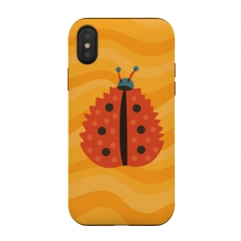 iPhone Xs / X  Orange Ladybug With Autumn Leaf Disguise by Boriana Giormova