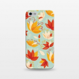 iPhone 5/5E/5s  Whimsical Abstract Colorful Lily Floral Pattern by Boriana Giormova