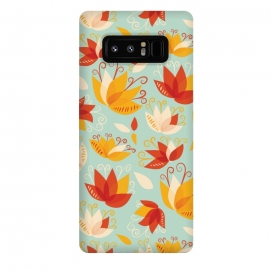 Galaxy Note 8  Whimsical Abstract Colorful Lily Floral Pattern by Boriana Giormova