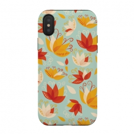 Whimsical Abstract Colorful Lily Floral Pattern by Boriana Giormova