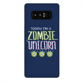 Galaxy Note 8  Zombie Unicorn Hand Drawn Lettering by Boriana Giormova