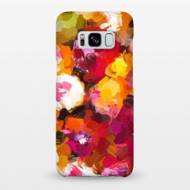 Galaxy S8+  Delicious Floral by Uma Prabhakar Gokhale (pattern, abstract, floral, flowers, pink, red, yellow, orange, green, blue, colorful, bold, spring, blossom, bloom)