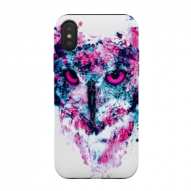 iPhone Xs / X  Owl IV by  (owl,birds,watercolor,art)