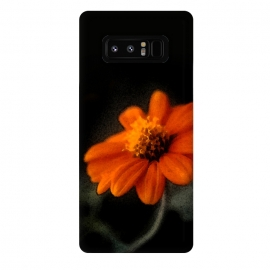 Galaxy Note 8  Single Orange Flower by Majoih