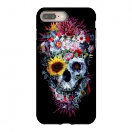 SKULL VOODOO DARK by Riza Peker (SKULL,SKELETON,FLORAL,COLLAGE,ART)