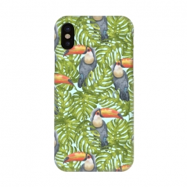 iPhone X  Monstera Birds by Creativeaxle