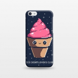 Ice cream lovers club by Ilustrata (icecream, japanese, cute, kawai, lettering, snow, winter, pixel, pixelart)