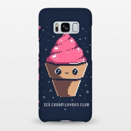 Galaxy S8+  Ice cream lovers club by Ilustrata (icecream, japanese, cute, kawai, lettering, snow, winter, pixel, pixelart)