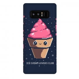 Galaxy Note 8  Ice cream lovers club by Ilustrata (icecream, japanese, cute, kawai, lettering, snow, winter, pixel, pixelart)