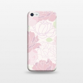 iPhone 5C  Abstract Pink Peony Pattern by Utart