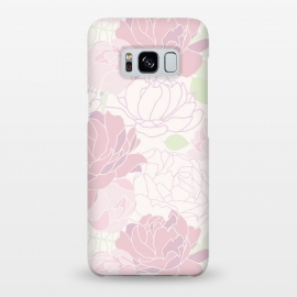Galaxy S8+  Abstract Pink Peony Pattern by Utart