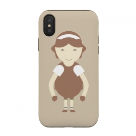 iPhone Xs / X  little brown girl by TMSarts