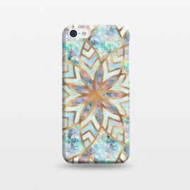 iPhone 5C  Mother of Pearl Mandala by Utart