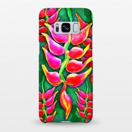 Galaxy S8+  Exotic Flowers Heliconia Pendula Bright Red  by BluedarkArt