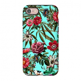 iPhone 8/7  Marijuana and Floral Pattern II by Burcu Korkmazyurek