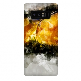 Galaxy Note 8  Forest Yellow Mushroom by Creativeaxle