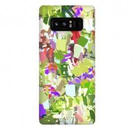Galaxy Note 8  Green Freshness by  (pattern, abstract, green, fresh, shapes, modern, red, orange)