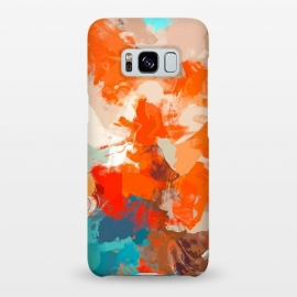 Galaxy S8+  Pleasure by Uma Prabhakar Gokhale (acrylic, abstract, random, warm, bold, red, orange, summer, blue, teal, turquoise, water, sun)