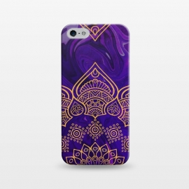 iPhone 5/5E/5s  Mandala in Purple Marble by Rossy Villarreal